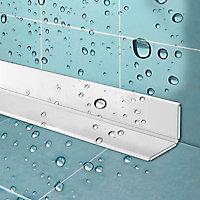 Profilé d'étanchéité adhésif blanc 22 mm x 2,4 m