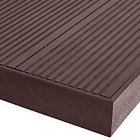 Profil de finition composite chocolat Blooma Oder L.220 cm