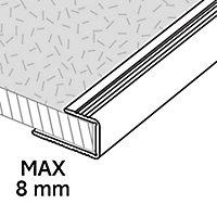Profilé de finition en U en aluminium pour sol , décor doré mat GoodHome 8,5x930mm
