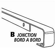 Profil de jonction aluminium 28 mm