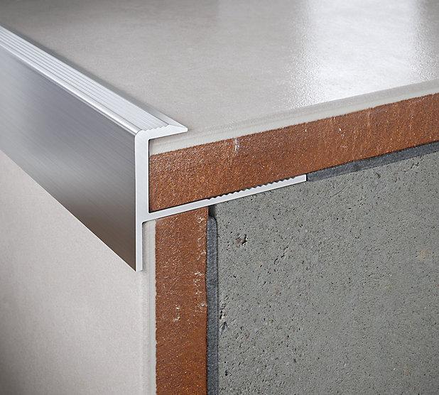 Profile Nez De Marche Droit Aluminium Brut 10 Mm Castorama