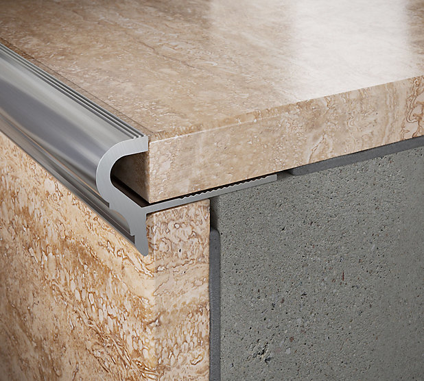 Profile Nez De Marche Semi Rond Aluminium Mat 10 Mm Castorama
