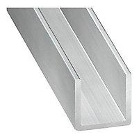 Profilé U aluminium brut 20 x 15 x 20 mm, 2 m