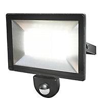 Projecteur à détection LED black 30W 2400 LM IP44