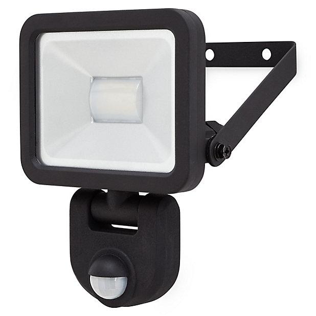 Projecteur A Detection Led Blooma Weyburn Noir 10 W Ip44 Castorama
