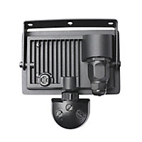 Projecteur à détection LED noir 20W 1600 LM IP44