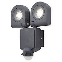 Projecteur deux têtes LED Blooma Dryden noir 2 x 10 W IP44