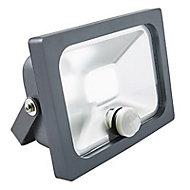 Projecteur LED à détection Blooma Manta gris 10W