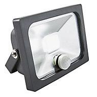 Projecteur LED à détection Blooma Manta noir 10W