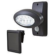Projecteur solaire à détection Blooma noir 2W IP44