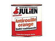 Protection antirouille métaux ferreux JULIEN Minium orange 0,25L