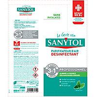 Purificateur d'air surfaces et textiles menthe Sanytol 600ml
