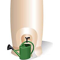 Récupérateur d'eau Eda Récup'O 1000L beige + collecteur
