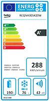 Réfrigérateur congélateur à poser Beko RDQSA240K20W 177L / 46L blanc