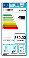 Réfrigérateur congélateur à poser Bosch KGN36VL3A 237L / 87L inox