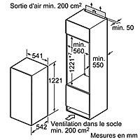 Réfrigérateur intégrable 183 L / 17 L Bosch KIL24V21FF blanc