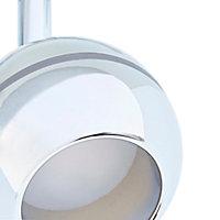 Réglette 2 spots Melanippe métal/plastique chrome LED 2x5 W