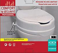 Réhausse WC avec couvercle plastique Godonnier blanc 10 cm
