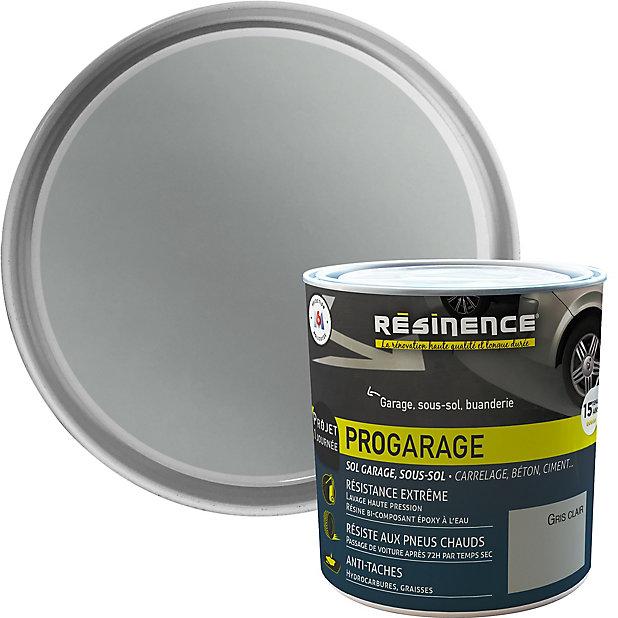 Resine De Renovation Sol Pro Resinence Garage Gris Clair 300ml Castorama