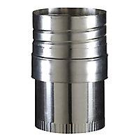 Raccord flexible conduit émaillé 100-80 mm Poujoulat