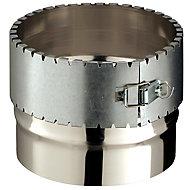 Raccord flexible conduit émaillé 150/150 mm Poujoulat