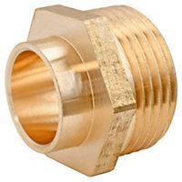 """Raccord laiton droit à souder sur tube cuivre Ø12 - sortie mâle 15/21 (1/2""""), lot de 2"""