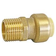 Raccord mâle à clipser pour tube cuivre ou PER ou Multicouche Ø16 - Mâle 20/27 (3/4')