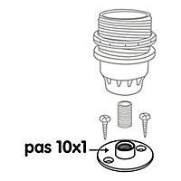 Raccord à plaque en laiton Diall Ø40 mm femelle PAS de 10 x 1