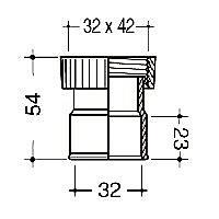 Raccord sortie lavabo Interplast ø32 mm