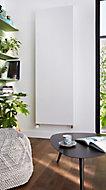 Radiateur acier eau chaude plat vertical blanc 1800W