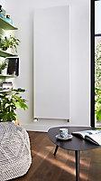 Radiateur acier eau chaude Warmhaus plat vertical blanc 1800W