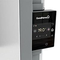 Radiateur connecté électrique double cœur de chauffe GoodHome Sondrio blanc 2000W vertical