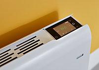 Radiateur connecté électrique à inertie sèche GoodHome Iriya blanc 2000W horizontal