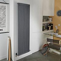 Radiateur eau chaude GoodHome Kensal Vertical Gris 1 523 W