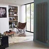 Radiateur eau chaude GoodHome Wilsona Vertical Gris 1045 W
