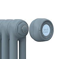 Radiateur électrique à inertie fluide GoodHome Mermoz bleu 1500W vertical