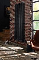 Radiateur électrique à inertie fluideGoodHome Mermoz gris métal 1800W vertical