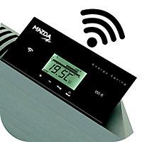 Radiateur électrique à inertie pierre naturelle Smart Wifi Mazda blanc 2000W