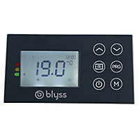 Radiateur électrique à inertie sèche Blyss Isando gris 1000W