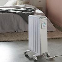 Radiateur mobile à inertie sèche GoodHome Merton blanc 1500W