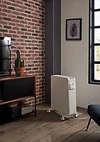 Radiateur mobile à inertie sèche GoodHome Mullae blanc 2500W