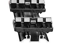 Rail aluminium GRAD avec clips pour lame terrasse ARETO