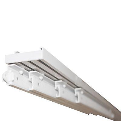 rail panneau japonais madeco 5 voies gris l 200 cm