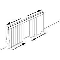 Rail pour store californien Madeco blanc ouverture centrale 150 cm