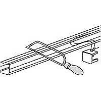 Rail pour store californien Madeco blanc ouverture centrale 200 cm