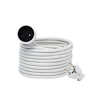 Rallonge blanche H05VVF 3G1 5mm² 5m