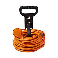 Rallonge orange Diall H05VVF 3G1 5mm² 20m avec clapet