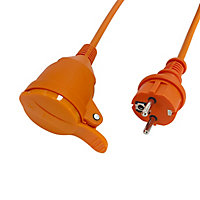 Rallonge orange Diall H05VVF 3G1 5mm² 40m avec clapet