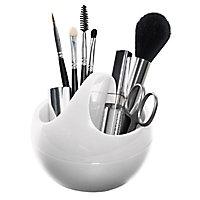Range maquillage plastique blanc Spirella Bowl