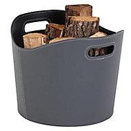 Rangement à bois Gamma gris